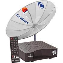 Receptor Digital HDTV Mídia Box B3 + Antena Parabólica 1,70m Telada Multiponto Century -