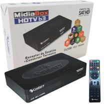 Receptor Digital Midia Box B3 Hdtv Com Conversor Digital Integrado - Century - Intelbrás