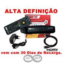 Receptor HD SKY PRE PAGO Flex + 30 Dias do Pacote Digital -