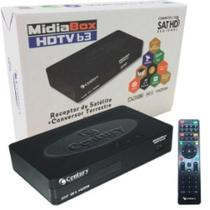 Receptor Midia Box B3 Hdtv Hd E Conversor Digital Terrestre - Century -