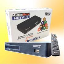 Receptor Parabólica Century Midiabox B3 DIGITAL HD COM SAÍDA HDMI E RCA. -