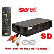 Receptor SD Sky Pre Pago + 30 Dias de Recarga do Pacote Digital -