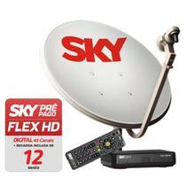 Receptor Sky Pré-pago Livre 12 Meses Antena 60cm Completa - SKY PRE PAGO