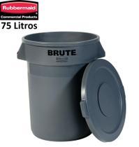 Recipiente Container Lixeira 75 Litros Rubbermaid Brute com Tampa -