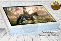 Red Dead Redemption II Papel De Arroz Comestível P/ Bolo A4 20x30cm MOD.04 - Papel Arroz .Com.Br