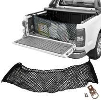 Rede CargoBag Elástica de Contenção Bagagem Para Caçamba de Pickup Pick Up CargoNet Preta Universal Chevrolet S10 S-10 -