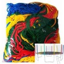Rede colorida para cama elástica 4,27 - Mundial Redes