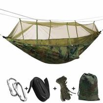 Rede De Descanso Com Tela Mosquiteiro Camping Trilha Pesca - Minymix