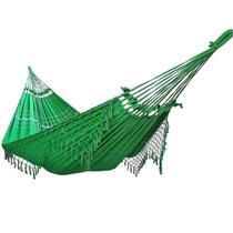 Rede De Dormir Descanso 100% Algodão Verde Bandeira - Brianoredes