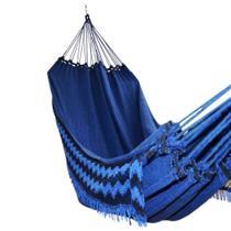 Rede De Dormir Descanso Casal  Jeans Lisa Azul 100% Algodão Casal 4 Metros Lojão Textil - Lojao textil