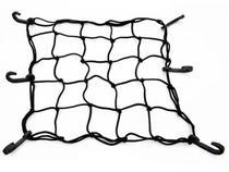 Rede Elástica Aranha Bagageiro Bauleto Moto Capacete Preta - Magno
