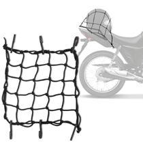 Rede Elástica Aranha para moto capacete 35x35 cm Preto Bagageiro  6 peças - Mgr