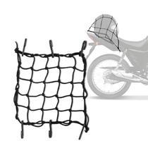 REDE ELASTICA ARANHA PARA MOTO/ PRENDE CAPACETE 35CMx35CM - Carretao