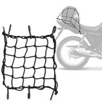 Rede Elástica Aranha Piraval Moto Motocicleta Capacete Bagageiro 35 x 35 cm Preto -