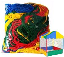 Rede Proteção Para Piscina De Bolinha Casinha 1,0x1,0m - Valentina Brinquedos -