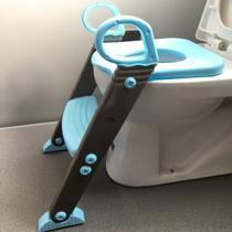 Redutor Assento Sanitário Infantil Escadinha Baby Style Azul -