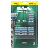 Refil Carga Gillette Mach3 16 Unidades -