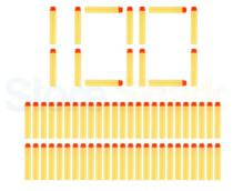 Refil dardos Ark Toys n strike Kit 100 Unidades Amarelo. - -