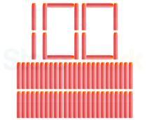 Refil dardos Ark Toys n strike Kit 100 Unidades Vermelho. - -