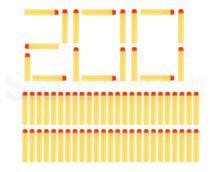 Refil dardos  n strike Kit 200 Unidades Amarelo - Art toys - Ark Toys