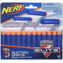 Refil de Dardos Nerf N-Strike Elite 12 Dardos Sucção - Hasbro