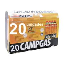 Refil De Gas Campgas Para Fogareiros E Macaricos Nautika 20 Unidades -