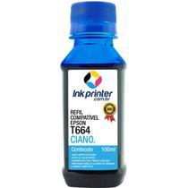 Refil de Tinta Compatível InkPrinter Ciano para Impressora Epson L455 ( T664 - 100ml) -