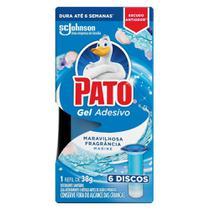 Refil Desodorizador Sanitário Pato Gel Adesivo Marine 38g -