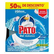 Refil Desodorizador Sanitário Pato Gel Adesivo Marine -
