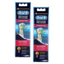 Refil Escova Elétrica Oral-B Floss Action com 4 Unidades - Oral b