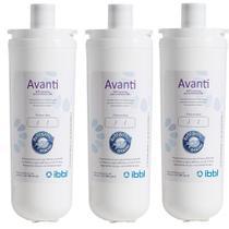 Refil Filtro Purificador de Água IBBL Avanti MIO Orignal Kit 3 Peças -