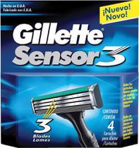 Refil Gillette Sensor 3 - Contém 4 unidades -