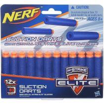 Refil Nerf Elite Dardos Sucção C/12 Unidades (A5334) - Hasbro