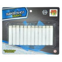 Refil para Lançador Super SHOT 12 Dardos Fluorescentes DM TOYS DMT5634 -
