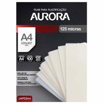 Refil Polaseal para Plastificação A4 100 Unidades Aurora -