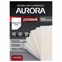 Refil Polaseal para Plastificação RG 100 Unidades Aurora -