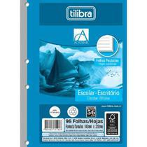 Refil Tiliflex para Caderno Argolado 1/4 Académie 96 Folhas Tilibra -