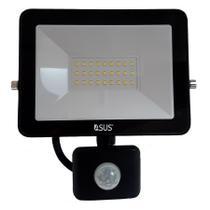 Refletor com Sensor de Presença Movimento 30W Lampada LED Holofote Iluminaçao Jardim Luz Casa Empresa - Economia Solar