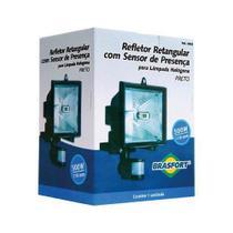 Refletor com Sensor de Presença para Lampada Halogena Brasfort -