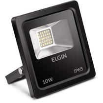 Refletor de LED 10W 6500K Bivolt Preto - Elgin