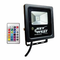 Refletor Holofote 10W RGB Várias Cores - DNI 6090 - Key West