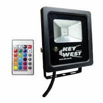 Refletor Holofote LED 10W Slim RGB - Bivolt - Dni
