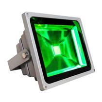 Refletor Holofote Led 30w Bivolt 180 Verde Prova Dágua 1738 - Wmt