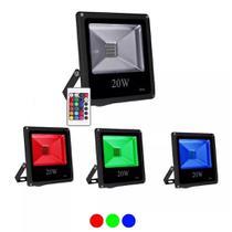 Refletor Holofote Led Rgb 20w Ip65 Bivolt - Iluminação Residencial Casa Jardim - Importado