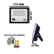 REFLETOR HOLOFOTE LED SMD 100W 6000K (BRANCO FRIO) 100a240V IP66 - Max