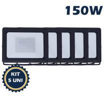 Refletor holofote led smd   150w 6500k(branco frio)bivolt ip66 kit5 - Max