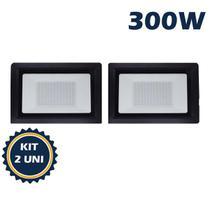 Refletor holofote led smd 300w 6500k(branco frio)bivolt ip66 kit2 - Max