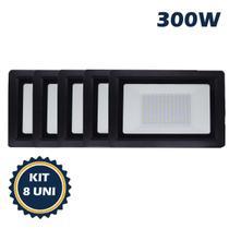 Refletor holofote led smd 300w 6500k(branco frio)bivolt ip66 kit8 - Max