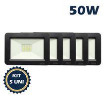 Refletor holofote led smd 50w 6500k(branco frio)bivolt ip66 kit5 - Max