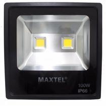 Refletor Holofote Super LED - 100W - Branco Quente - Maxtel -